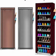 9 tier shoe shelves canvas fabric shoe rack storage