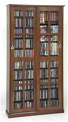 sliding glass door 700 cd 336 dvd storage cabinet new ebay