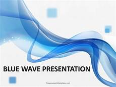 Waves Powerpoint Free Blue Wave Powerpoint Template