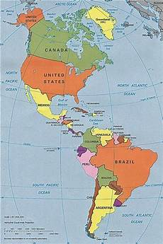 World Map Of North And South America Central And South American Cultures