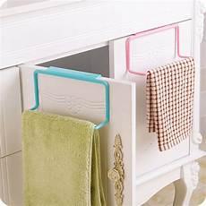 kitchen towel rack hanging holder cupboard cabinet door