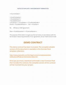 Notice Of Termination Of Contract Affiliate Var Termination Agreement 3 Easy Steps