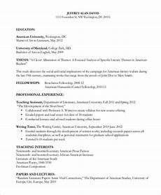 Essay On Curriculum Format Of Curriculum Vitae For Thesis