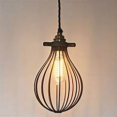 Balloon Whisk Light Rust Effect Whisk Cage For A Industrial Style Pendant