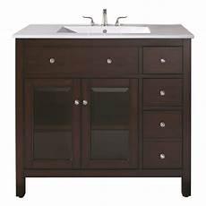 36 inch single sink bathroom vanity with ceramic