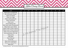 Kitchen Cleaning Rota Template Household Binder Cleaning Set All About Planners