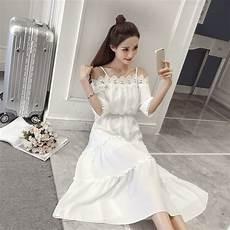 2018 new fashion summer dress white korean