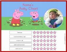Peppa Pig Sticker Reward Chart Free Peppa Pig Potty Training Charts Customize With Your