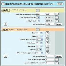 Electrical Panel Size Chart Sizing A Main Electrical Panel For A Home