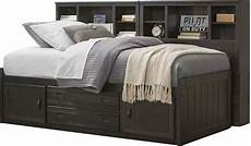 creekside charcoal 7 pc captain s bookcase wall bed