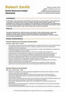 Experienced Hr Analyst Resume Hr Analyst Resume Summary June 2020