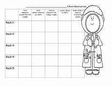 Rock Characteristics Chart Rocks And Minerals Observation Chart By Little Miss