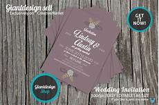 A5 Invitation Template A5 Vintage Wedding Invitation Wedding Templates