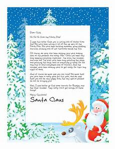 A Letter From Santa Template Easy Free Letters From Santa Customize Your Text And