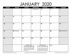 2020 Printable Monthly Calendar With Holidays Free Printable Calendar Printable Monthly Calendars
