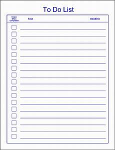 Microsoft Templates To Do List 6 Editable To Do List Template Sampletemplatess
