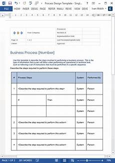 Business Process Template Word Business Process Design Templates Ms Word Excel Visio