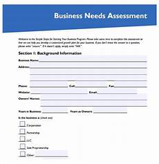Company Assessment Template Needs Assessment Template Word Excel Formats