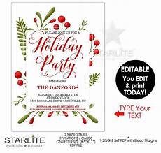 Holiday Party Invitations Template Holiday Party Invitations Instant Download Editable Holiday