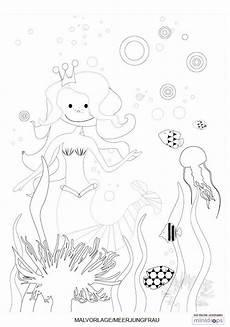 Ausmalbilder Zum Ausdrucken Unterwasserwelt Meerjungfrau Malvorlage Kostenlos Ausdrucken Malvorlagen