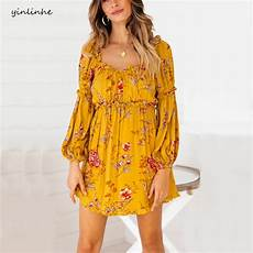sleeve summer dresses for yellow yinlinhe yellow floral summer dress sleeve
