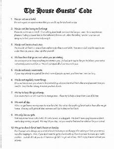 Rental House Rules Template A List Of Rules Every House Guest Should Abide By There