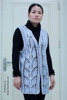 crochet pineapple jacket and vest for craft ideas