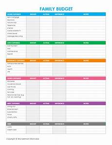 Monthly Family Budget Free Printable Family Budget Worksheets Money Saving