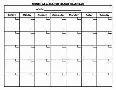 Printable Blank Calendar Printable Blank Monthly Calendar Activity Shelter