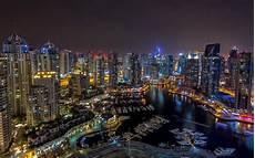 Dubai Night Lights Dubai Night Wallpaper Hd Buildings Skyscrapers Marina