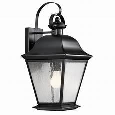 Kichler Outdoor Wall Light Shop Kichler Lighting Mount Vernon 19 5 In H Black Outdoor