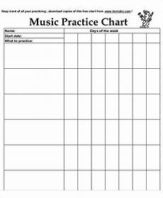 Practice Charts For Music Students Free 6 Music Chart Templates In Pdf