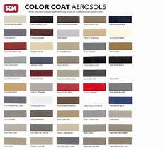 Sem Trim Paint Color Chart Sem Color Coat Interior Paint Aerosols Pints Quarts