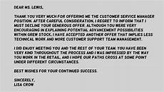 How To Reject Job Offer Job Offer Rejection Email Message Examples
