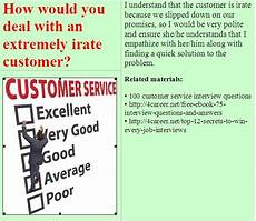 Interview Question And Answers For Customer Service Representative Related Materials 100 Customer Service Interview
