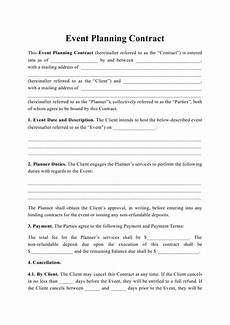 Event Planner Contract Templates Event Planning Contract Template Download Printable Pdf