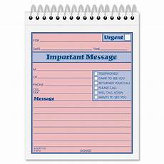 Phone Messages Template Adams Phone Message Booklet Ld Products