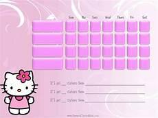 Hello Kitty Potty Training Chart Hello Kitty Behavior Chart