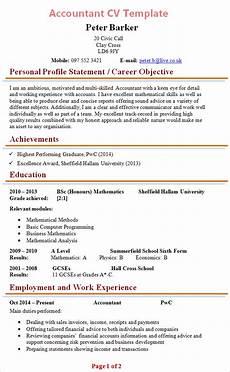 Sample Curriculum Vitae For Accountants Accountant Cv Template