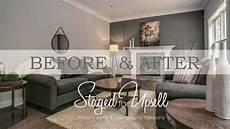 before and after home staging staged for upsell
