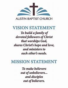 Mission Statement Sample Austin Baptist Church Vision Mission Statements