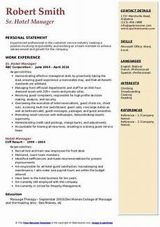 Resume Format Hotel Management Hotel Industry Hotel Management Resume Format Pdf Best