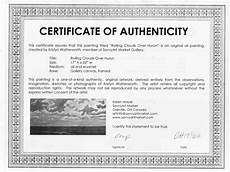 Make A Certificate Of Authenticity Sample Certificate Of Authenticity For Originals