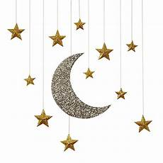 Moon And Stars Design Hanging Moon And Stars Decorations Modern Lola