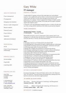 It Cv It Manager Cv Sample Managerial Resume Team Leader