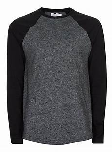 black sleeve shirt grey raglan sleeve t shirt s tops clothing