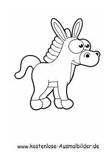Malvorlage Esel Einfach Ausmalbild Esel 2 Zum Ausdrucken