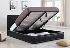 new pu leather size gas lift storage bed ebay