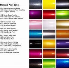 Metallic Car Paint Color Chart Automotive Paint Colors Pinteres