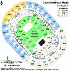 Xcel Seating Chart Dave Matthews Seating Charts Chesapeake Energy Arena